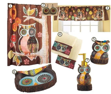 walmart owl bathroom accessories owl friendly bath ensemble lakeside collection