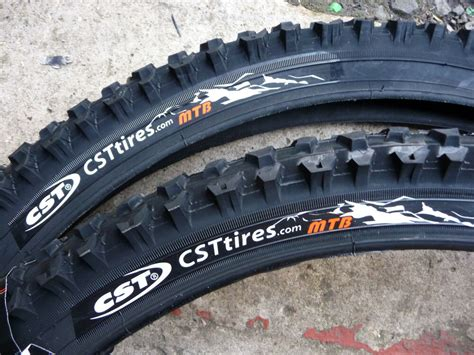 Pair Cst Raleigh Mtb Mountain Bike Cycle Tyres Only 26 X 1