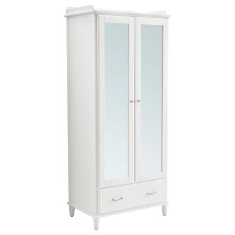 Slim Mirrored Wardrobe by 2019 White Wardrobes Armoire