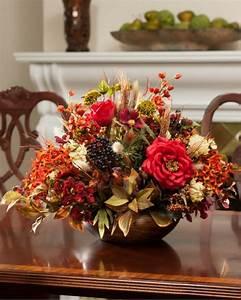 la decoration table automne en 47 idees originales With affiche chambre bébé avec bouquet fleurs et fruits