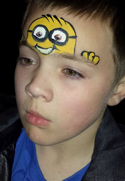 despicable evil minion face painting  deborah lane