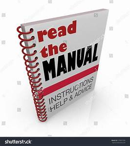 The Words Read The Manual On A Book Cover Offering