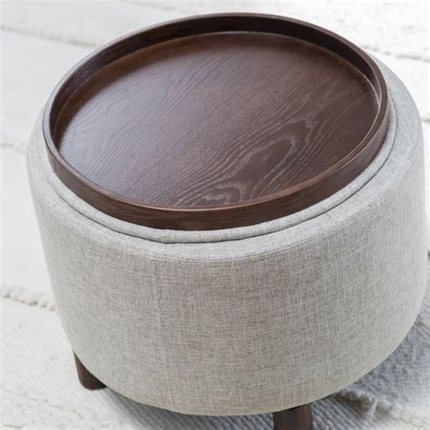 round storage ottoman with tray 25 best ideas about round storage ottoman on pinterest