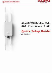 Altai Technologies Cx200 Cx200 Outdoor 2x2 802 11ac Wave 2