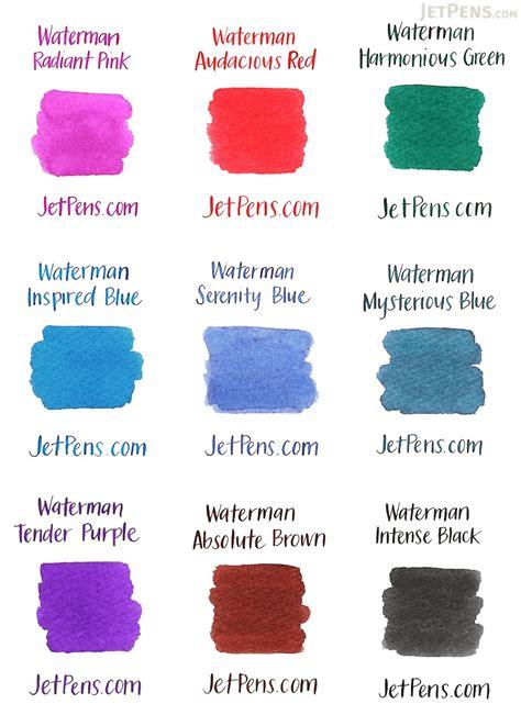 waterman inspired blue ink  ml bottle jetpenscom