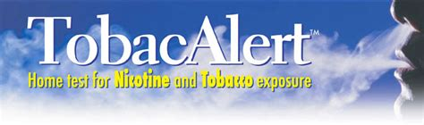 Tobacalert™  Home Test For Nicotine And Tobacco Exposure
