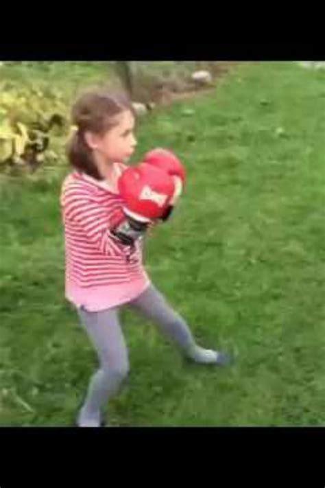 girl  boy play fight    hits