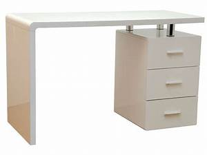 Bureau gloss coloris blanc vente de bureau conforama for Beautiful meuble 9 tiroirs 11 bureau gloss coloris blanc vente de bureau conforama