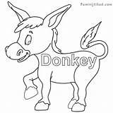 Donkey Coloring Pages Getdrawings Getcolorings Printable sketch template