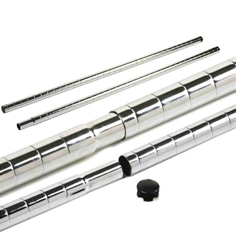 scaffali tubolari tubolari cromati prolunga pz 4 h 85xd 2 54 cm per