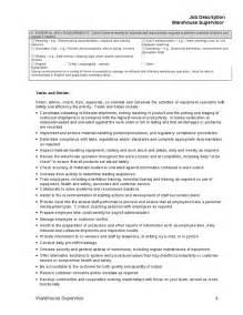 warehouse coordinator description description for warehouse supervisor hashdoc