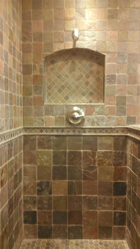 travertine tile bathroom ideas shower niche tile ideas