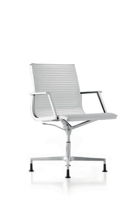 fauteuil bureau nulite pied fixe pivotant en cuir à accoudoirs