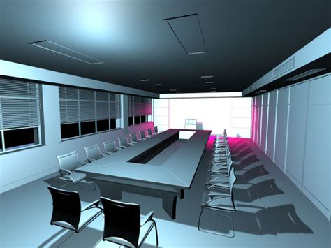 meeting room office visualization max ds max software