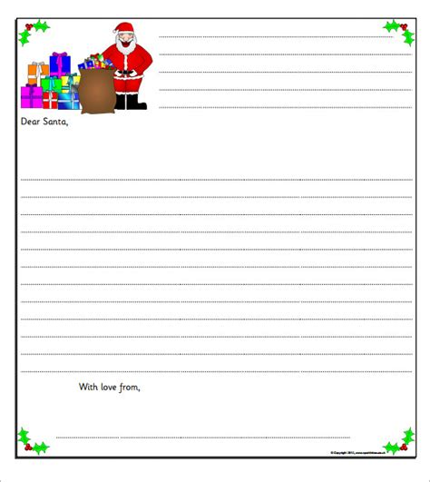 Free Santa Letter Template by Letter From Santa Template
