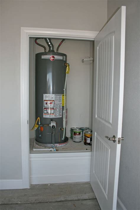 garage water heater closet water heater closet home