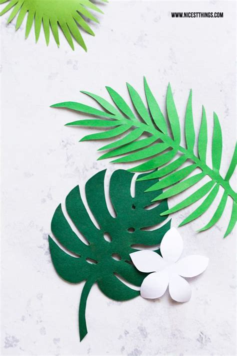 diy tropical leaf garland leaves template