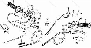 Honda Motorcycle 1984 Oem Parts Diagram For Control Levers