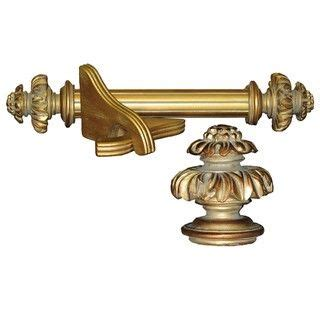 royal fancy historical gold wood curtain rod set great
