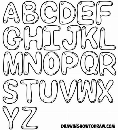 Step Bubble Letters Draw Drawing Easy Tutorial