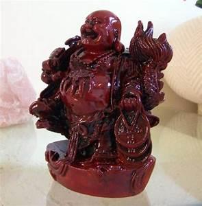 Buddhist Statues :: Laughing Buddha and Chinese Dragon
