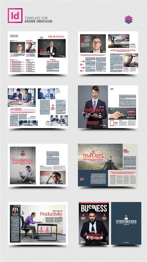 Magazine Format Template by Business Magazine Template Stockindesign