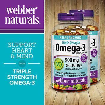 webber naturals Triple Strength Omega 3 900 mg   2 x 200