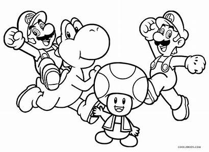 Coloring Pages Mario Printable Brothers Cool2bkids