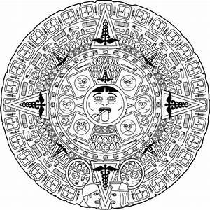 aztec calendar coloring pages