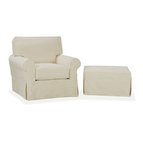 chair and ottoman covers nantucket slip cover suite arm chair and ottoman wayfair