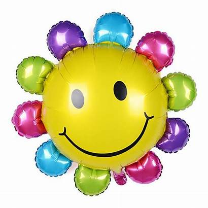 Cartoon Party Balloon Sunflower Hydrogen Smiling Flower