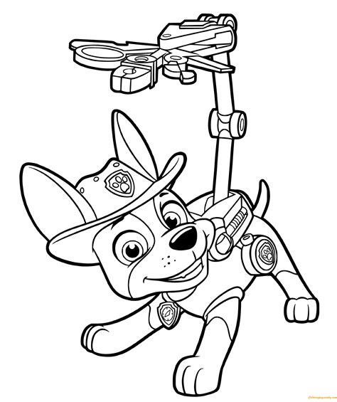 Paw Patrol Tracker Coloring Page: http://coloringpagesonly