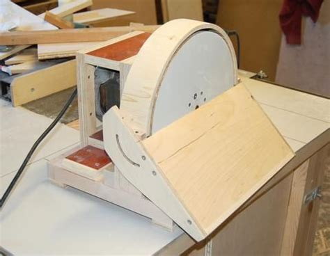 john heiszs homemade disk sander small projects ideas