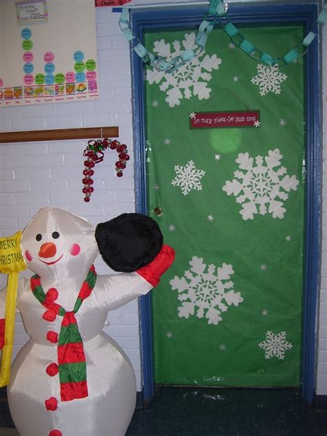 classroom christmas door decoration ideas 17 best images about prek winter on snowflakes snow much and plastic spoons