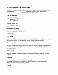 sample music contract images musical performance With music performance contract template