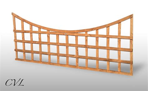 Curved Garden Trellis by 4 Lengths 6ft X 75cm Curved Garden Trellis Fence Panels Ebay