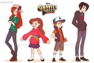 Gravity Falls Characters Real Life
