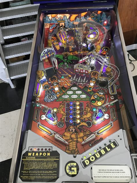 gladiators pinball machine fun