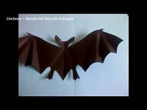 Halloween Deko Aus Amerika : halloween deko fledermaus aus papier basteln einfach youtube ~ Markanthonyermac.com Haus und Dekorationen