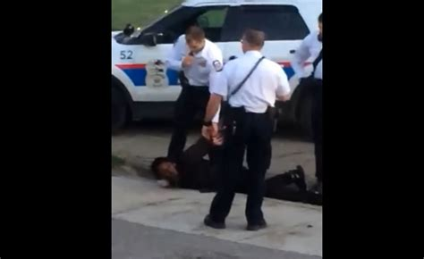 video shows officer stomping  black mans head