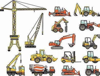 Construction Heavy Machines Vector Machinery Equipment Clip