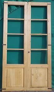 Porte Intérieur Double Vantaux : c2va8 porte d 39 interieur 2 vantaux vitree ~ Melissatoandfro.com Idées de Décoration