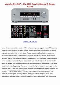 Yamaha Rx V357 Htr 5830 Service Manual Repair By Sharee