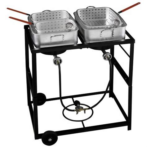 fish fry fryer propane outdoor cart academy cooker gourmet deep fryers cooking burner double party cookers sports outdoors amazon fishing