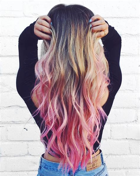 Blonde Hair With Pink Tips See This Instagram Photo By
