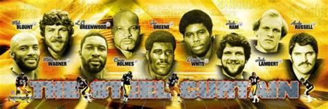 pittsburgh steelers the steel curtain photo at art com