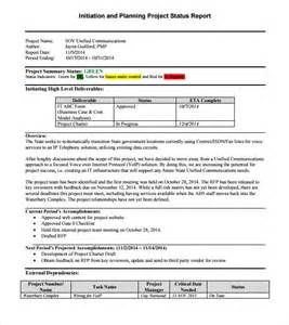 Project Reports Templates by Sle Project Status Report 8 Exles Format