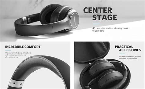 Anker Over Ear Headphones by Soundcore Anker Vortex Wireless Over Ear Headphones With