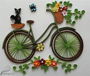How to make quilling bicycle with flowers - Crazzy Crafts