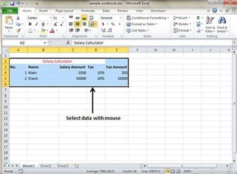 select data  excel  tutorialspoint